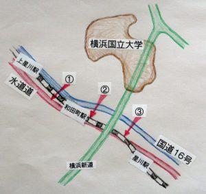 国道16号から水道道への侵入ル-ト